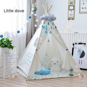 tipi kinderzelt spielzelt tippi indianer indianerzelt kinderzimmer incl matratze ebay. Black Bedroom Furniture Sets. Home Design Ideas