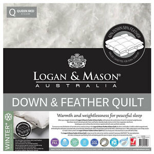 Logan-and-Mason-Down-amp-Feather-Quilt-Doona-100-Cotton-Casing-42-58-KING-SIZE