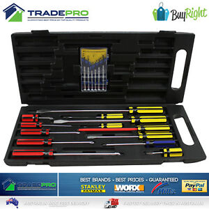 Screwdriver-Set-19pc-Buy-Right-with-Carry-Case-Magnetic-Phillips-Flat-Precision