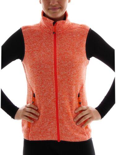 CMP fleeceweste chaleco de punto caliente chaleco naranja cuello alto bolsillos