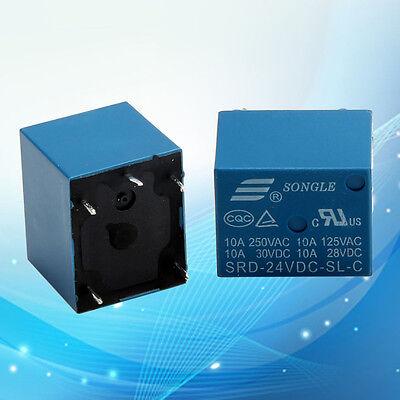 NEW 10pcs SRD-24VDC-SL-C 5Pin 24V DC PCB Coil Power Relay