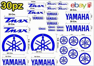 MAXI-KIT-30-PEZZI-SERIE-DI-ADESIVI-YAMAHA-TMAX-T-MAX-500-530-COLORE-BLU