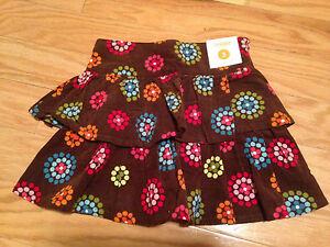NWT-Gymboree-Winter-Cheer-Corduroy-Tiered-Flower-Polka-Dot-Skirt-3-3T-So-Cute