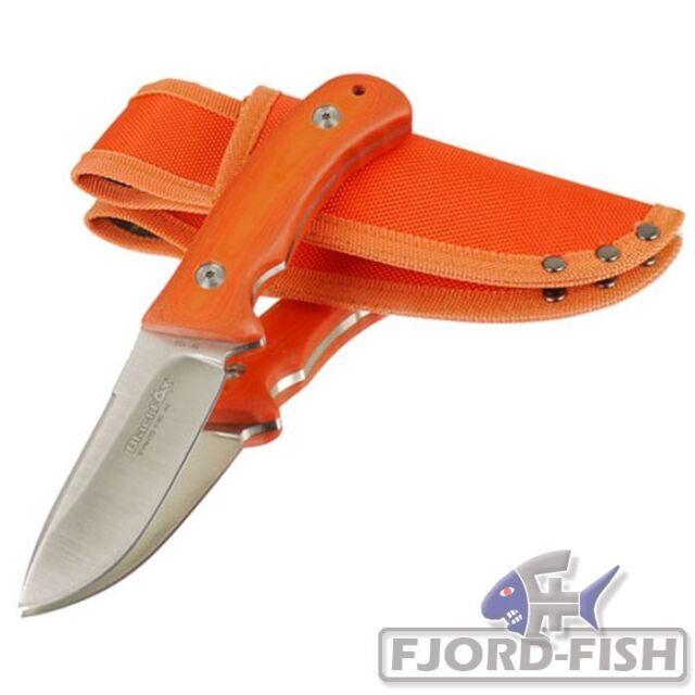 BlackFox Gürtelmesser Stahl 440 G10-Griffschalen orange Fahrtenmesser Jagdmesser