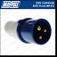 Maypole Caravana 230V 16A Enchufe de Red Gancho del sitio IP44 clasificado Electrics MP372