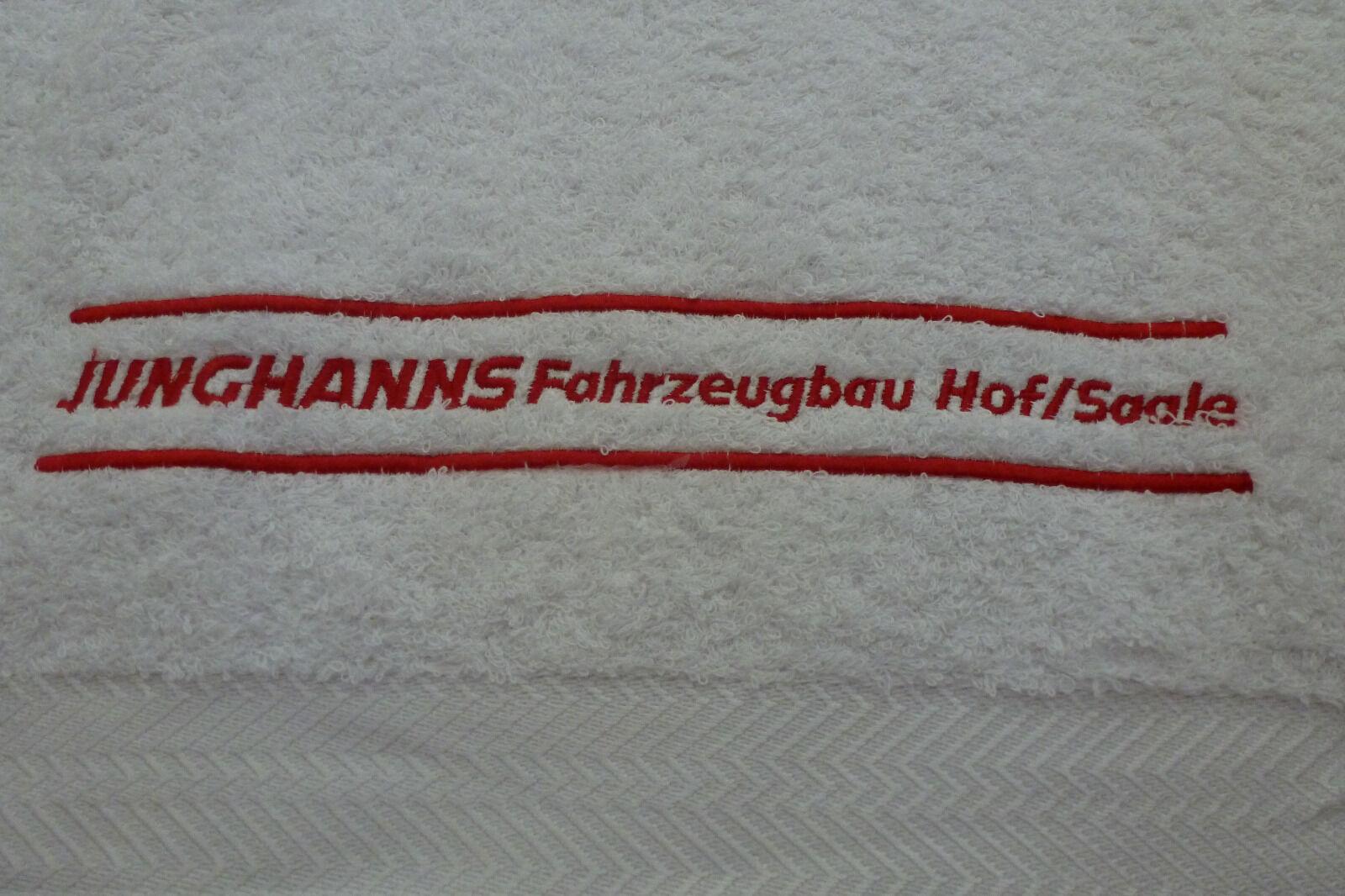 Junghanns LKW Fahrzeugbau Hof Saale Badetuch Handtuch Jorzolino 140x70cm     | Sonderpreis