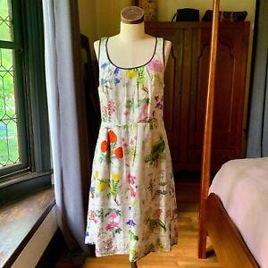 Anthropologie Moulinette Soeurs Garden Party Tuileries Botanical Dress 10 M/L