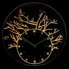 cnc2017-y Birds with Tree Illuminated Wall Neon Clock Sign LED Night Light