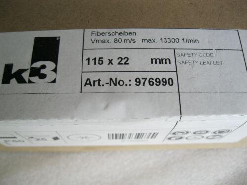 25 Schleifscheiben Fiberscheiben Ø115 Korn 60 Fiberschleifscheiben