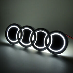 illuminated 5d led car tail logo white light for audi q5. Black Bedroom Furniture Sets. Home Design Ideas