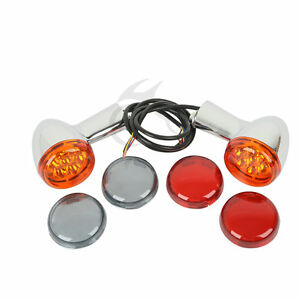 Rear-Turn-Signals-Lights-Chrome-Bracket-For-Harley-Sportster-XL-883-1200-1992-Up