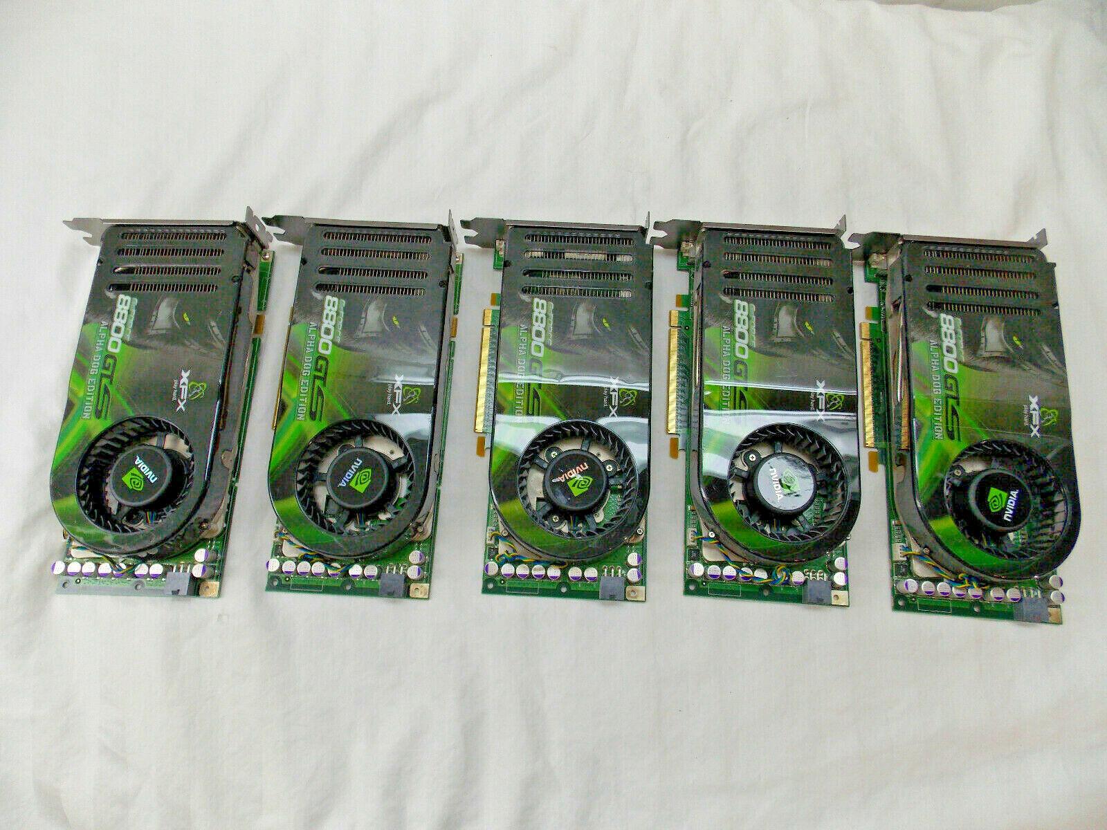 5each GeForce 8800GTS 520M DDR3 Dual DVI TV PCI-E Alpha Dog Edition Graphic Card