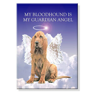 BLOODHOUND-Guardian-Angel-FRIDGE-MAGNET-New-DOG-Puppy