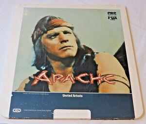 Apache-United-Artists-Burt-Lancaster-CBS-Fox-CED-Video-Disc-videodisc-Movie