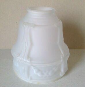White-Satin-Finish-Embossed-2-1-4-034-Shade-Glass-Globe-Fan-Fixture