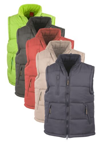 Peached Polyester Padded Fleece Lined Gilet Bodywarmer RED BLUE BLACK BEIGE LIME
