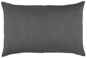 2-X-Luxury-Percale-Noniron-Plain-Dyed-Polycotton-Housewife-Pillow-Cases-Charcoal