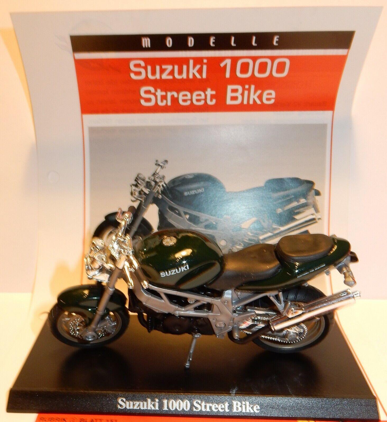 MAISTO METAL 1 18 MOTO MOTOCICLETA SUZUKI BARRIO BIKE + soporte
