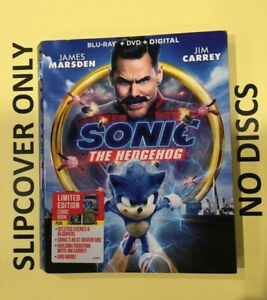 Sonic The Hedgehog 2020 Blu Ray Slipcover Only No Discs Ebay