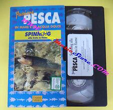 VHS film cartonata SPINNING TROTA FIUME 1996 Passione pesca FABBRI (F104) no dvd