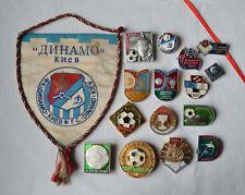 Dynamo Kiev soccer club pennant Set of Soviet 15 pin Badge USSR Football fan UA