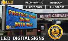 P8 2 Sided 4ft By 8ft Full Color Programmable Led Digital Sign Board Outdoor