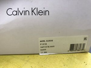 Merl Calvin en m 11 Chaussures Klein daim Navy 5 JF1lKc