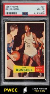 1957 Topps Basketball Bill Russell SP ROOKIE RC #77 PSA 4 VGEX (PWCC-A)