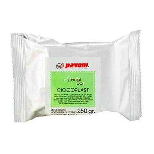 Pavoni Modellierschokolade 250g hellgrün