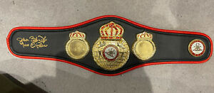 Signed james buster douglas Signed WBA Mini Boxing Belt Proof/COA Mike tyson KO