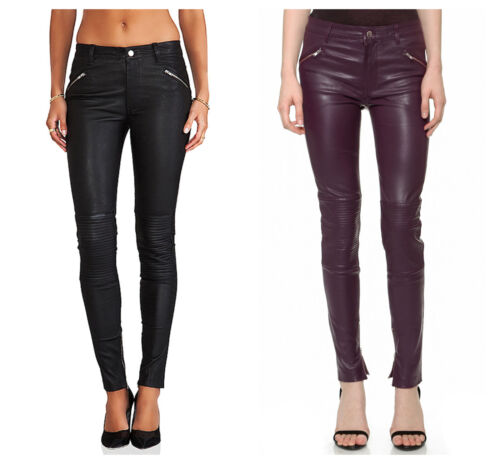 BLK DNM Women/'s Leather Pants 1 $995 NWT