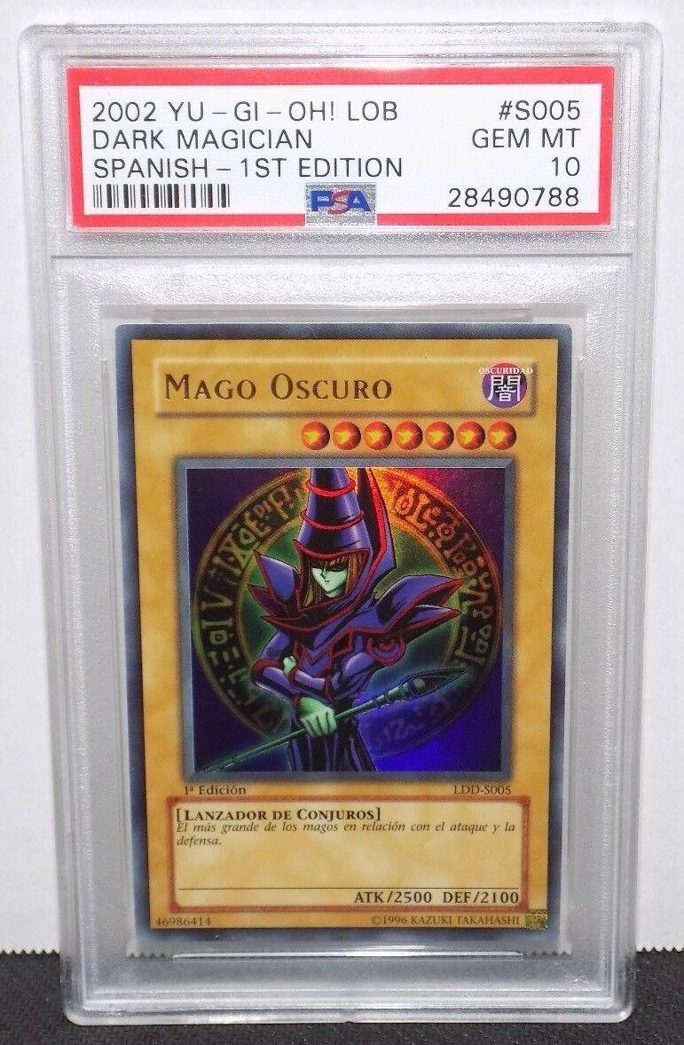 PSA 10 Dark Magician (LDD-S005) Ultra Rare 1st Edition Edition Edition - Spanish GEM MINT POP 2 7a728d