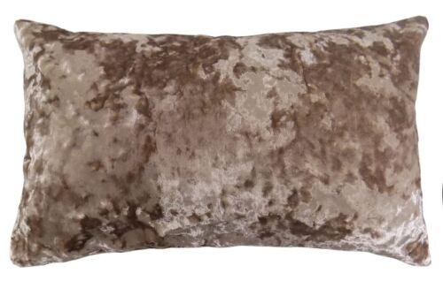 Luxueux oyster beige velours épais doux boudoir housse de coussin 30 x 50CM
