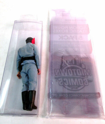 "Midtown Comics Clear Plastic Action Figure Display Boxes 12/"" 5 Pack NEW"