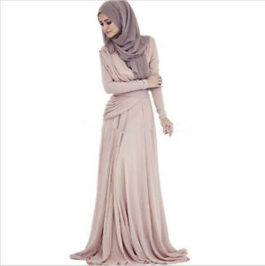 45391accf2 Arabic Hijab Evening Dresses Long Sleeves Muslim Prom Dresses Formal ...