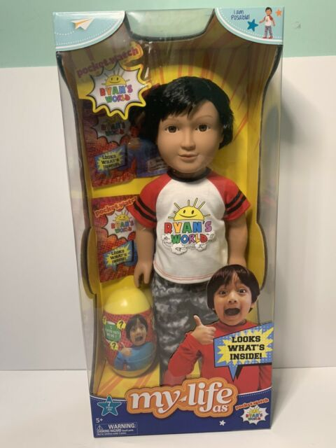 """My Life As 18/"""" Ryan/'s World 7-Piece Doll And Mystery Surprise Set Realistic!"""