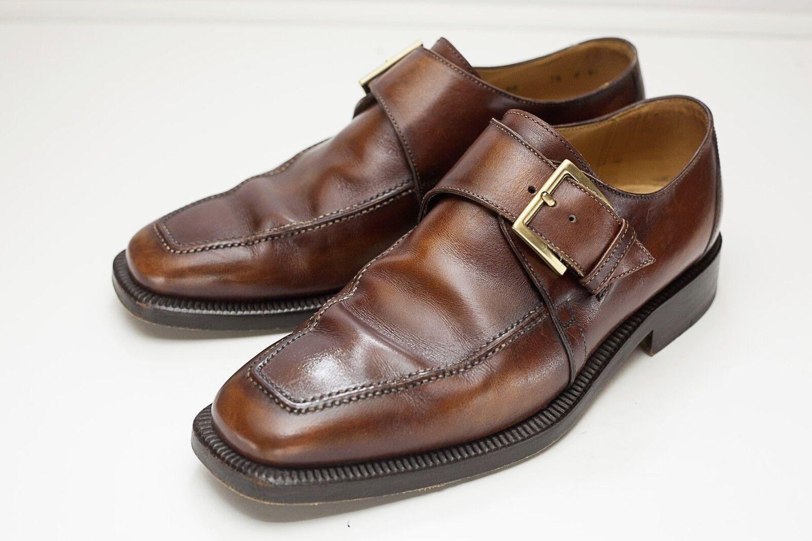 Campanile 8.5 Brown Monk Strap Men's Dress shoes