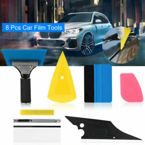8 PCS Car Film Tinting Tools Kit Vinyl Wrap Applicator Squeegee Felt Cutter USA