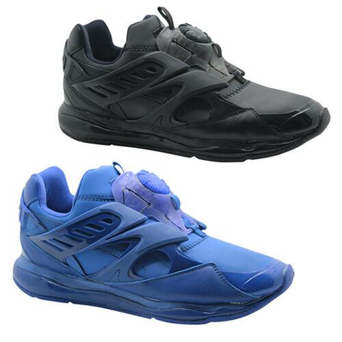 Puma Trinomic Disc Blaze Cell Mens Trainers Slip On shoes Black bluee 360078