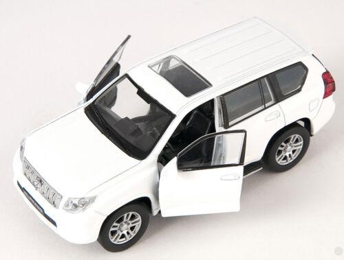 BLITZ VERSAND Toyota Land Cruiser Prado weiss white Welly Modell Auto 1:34 NEU