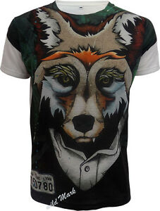 8b2d12c90da Details about FOX SUBLIMATION FULL FRONT PRINT  T-SHIRT/Wild/Animal/Skull/Mountain/Funny/Top