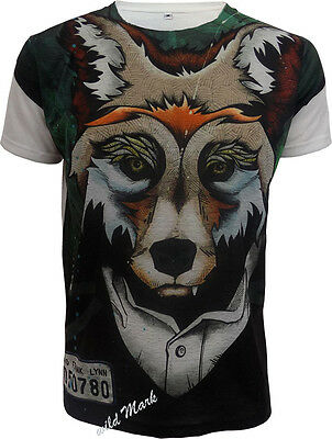 LIZARD Sublimation full front print white T-shirt//Wild//Rock//Funny//Mountain//Top