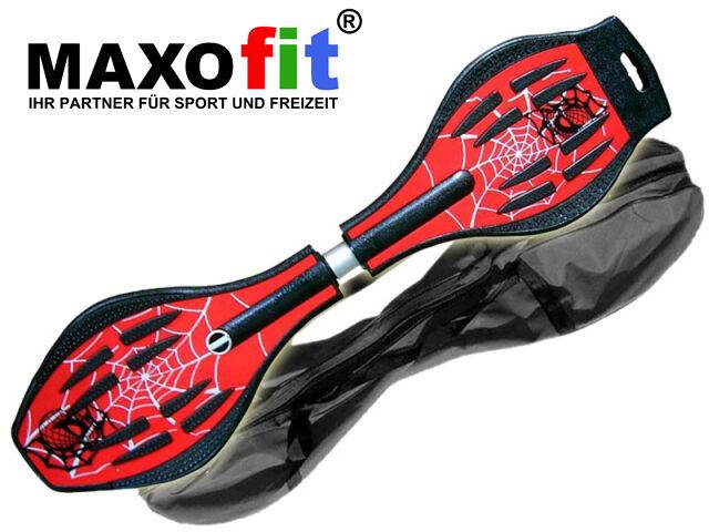 Waveboard MAXOfit MAXOfit Waveboard XL Spider ROT, bis 95 kg , mit Tasche und LED Leuchtrollen dafbcb