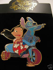 Disney-Lilo-Stitch-on-Tricycle-Jumbo-GOLD-Artist-Proof-AP-PIN