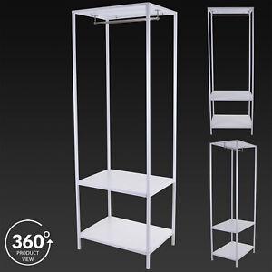 Image Is Loading Metal Clothes Rail Open Wardrobe Storage Shoe Rack