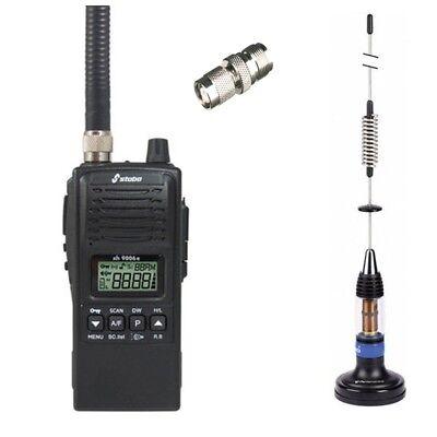 Funktechnik Cb-funkgeräte mag Antenne Lc59 & Antennenadapter GroßZüGig Set Stabo Xh 9006e Spritzwassergeschützt