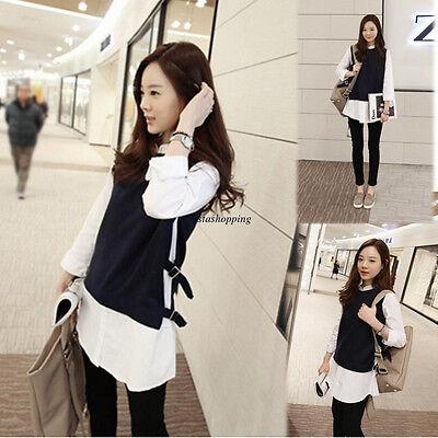 Elegant Korean Womens Long Sleeve Lapel Bottoming shirt Casual Blouse Tops 2XL