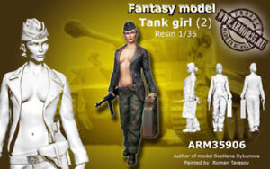 1-35-Scale-Sexy-Girl-Female-German-Tank-WW2-Resin-Model-Kit-Figure-Unpainted