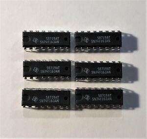 6PCS-TI-74F163-6X-4Bit-BINARY-COUNTER-TTL-74163-DIP16-USA-SALE-FAST-SHIP