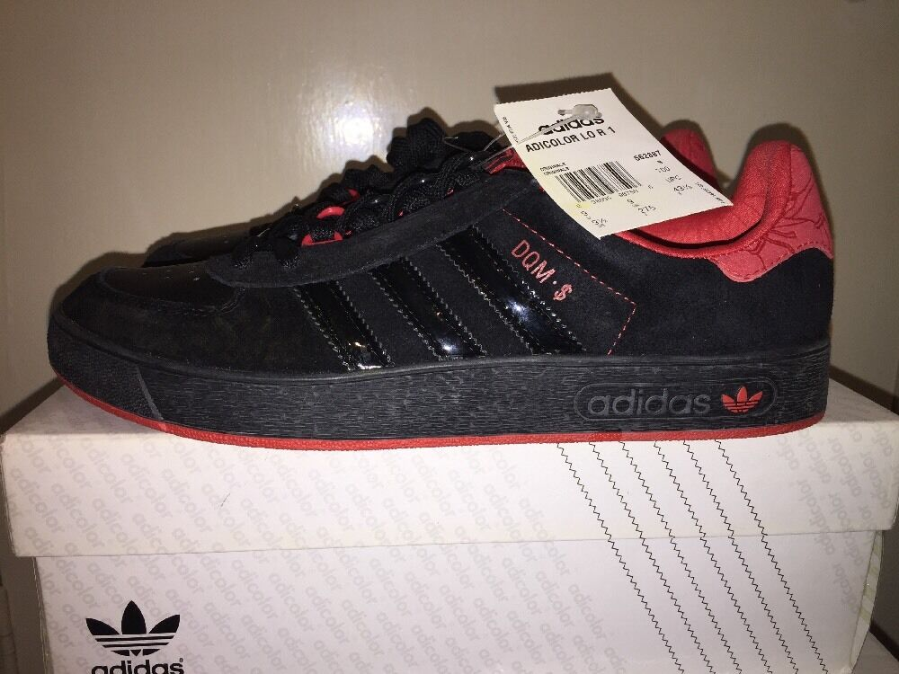 Adidas Originals AdiColoreee lo R1 DQM DAVES Carne Di Qualità Rosso Nero in Pelle Scamosciata RARA UK9 | Beautiful  | Uomini/Donne Scarpa